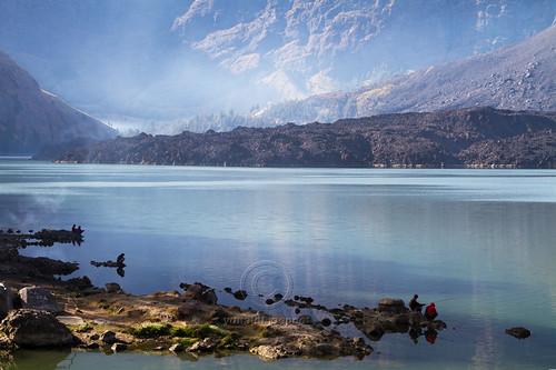 View of Segara Anak Lake Mount Rinjani