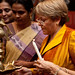 UN Women Executive Director Michelle Bachelet inaguarates the National Leadership Summit in Jaipur, India on 4 October 2012