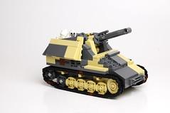 105 mm leFH auf PzKpfw II Wespe Sd.Kfz.124 (Florida Shoooter) Tags: germany lego ww2 wespe panzerii afrikakorps dirtydak armoredartillery