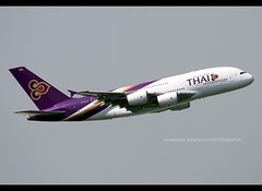 Airbus | A380-841 | Thai Airways International | HS-TUA | Hong Kong | HKG | VHHH (Christian Junker | PHOTOGRAPHY) Tags: china plane canon hongkong eos airport asia aviation super cc airline thai 7d airbus a380 heavy takeoff hkg 100400mm sar tha tg thaiairways clk planespotting cheklapkok staralliance hkia 087 hongkonginternationalairport vhhh a380800 thaiairwaysinternational a388 a380841 wwwairlinersnet 07r tg601 thai601 hstua christianjunker wwwfocusonflightnet sirattana ahkgap tha601