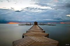 Siempre habr un nuevo da (Legi.) Tags: longexposure espaa seascape sunrise landscape mar spain nikon europa europe amanecer 1855mm 1855 menor hoya ndfilter largaexposicin nd400 santiagodelaribera d5100