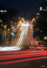 South Granville (Clayton Perry Photoworks) Tags: street longexposure night vancouver lights stream granville broadway southgranville