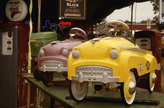 Pastel Pedal Cars (braniffelectra) Tags: art fall junk texas antiques roundtop warrenton collectiables mygearandme rememberthatmomentlevel1