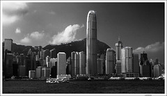 Hong Kong skyline and The Peak (Lanfranco_B) Tags: china white black skyline hongkong peak nero cina biano