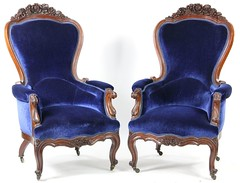 4. Pair of Victorian Parlor Chairs, circa 1860