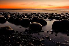 Bowling Ball Beach at Dusk (Tōn) Tags: ocean california ca sunset sea seascape beach nature twilight rocks unitedstates pacific dusk boulders pacificocean waterscape bowlingballbeach gallaway tonyvanlecom