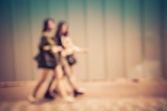 Short skirts and out of focus futures (Brendan  S) Tags: world street girls people blur streets colour art girl wall us blurry colours time bokeh candid blurred save outoffocus korean step will stepping return them walls southkorea blurs daegu koreans timed oof defocus koreangirls bokey babeh believeit bukeh blurphotography blurart outoffocusart thegoodkorea livelearnlove rebelsab okbokeh blurwillsavetheworld brendan blurcolours blurredgirls shortskirtsandoutoffocusfutures believeitbabeh blurredart brendanblur