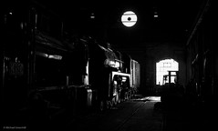Between shifts (michaelgreenhill) Tags: victoria rail steamrail trains steam workshops newport backlit contrast newportworkshops melbourne a2986 preservation train heritage blackandwhite r711 monchrome srv locomotive williamstownnorth australia au
