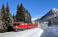 Ge 4/4 I 606 Davos Platz (Florian Martinoff) Tags: davos winter schnee schweiz zug train ge44i rhb