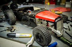 Rat Rod Build Part 5 (Strangely Different) Tags: rceveryday crawler rc4wd tamiya axial ford hiboy roadster 32 rat hot rod tinytrucks