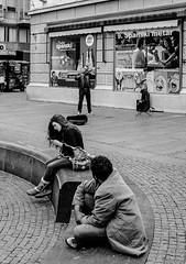 (un)impressed (fiffo1892) Tags: fuji fujix100s street streetphotography belgrage serbia monochrome travel musician girl blackandwhite