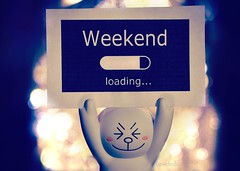 Weekend Loading :D (Lawdeda ) Tags: line friends toy bunny fun friday thank goodness weekend is upon us woot yay so happy indoor bokeh picmonkey