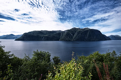 Storfjord, Norway (jforberg) Tags: 2016 norway noregia norwegian norwegen norge stordal aalesund water woods waterfront wonderful wether west sea trees green sky cloudy cloud
