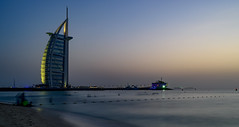 Sunset at Burj al Arab - Dubai (Aleem Yousaf) Tags: graduated sunset burj ul arab dubai evening blue hour filter neutral density long exposure nikon d800 1835mm photo walk