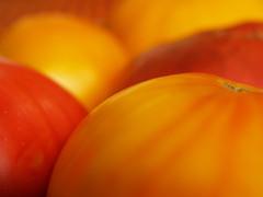Heirloom Tomatoes (Grazerin/Dorli B.) Tags: tomato heirloomtomato food vegetable fruit macro abstract edibleabstract elements