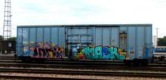 TMRC - mask '16 (timetomakethepasta) Tags: tmrc mask freight train graffiti boxcar art albany new york cmq