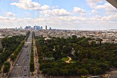 Champs Top View (Wesam Alissa) Tags: 2016 france paris parisferriswheel champslyses arcdetriomphe skyline skyview canon canon80d wesam wesamalissa parisskyline