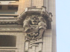 Evil Gargoyles in High Places 3385 (Brechtbug) Tags: clown high places gargoyles gothic building across from madison square park 17 east 26th street between 5th avenues near broadway flatiron district midtown manhattan 08162016 nyc shadow cityscape architecture new york city buildings 2016 shadows american labor seven 7 deadly sins dragons shark dolphins women men classical gnome ceramic tile golem monster gollum halloween