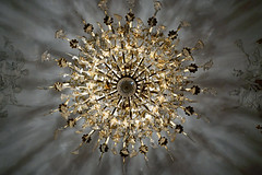 Chandelier of crystal and gold - Hotel Subise, Paris (Monceau) Tags: chandelier crystal gold diffused light hteldesoubise archivesnationales paris