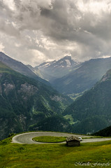 Mountain road Austria (Marielle - Fotografie) Tags: austria mountains mountain clouds road grossglockner travel vacation green alps nikon d5100