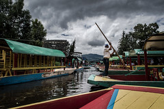 Sailing on the Lake (Edd Leyva) Tags: xochimilco cdmx lake mexico trajinera nikon d3200 55300mm shimmer wather tour mexicantradition fotoretinacollective