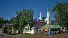 Glimpse of road (Antoine - Bkk) Tags: darktable myanmar temple street architecture snapshot atmosphere xm1 mandalay