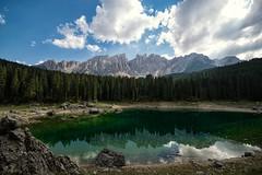 Karersee - Südtirol Serie lll (And Hei) Tags: südtirol karersee tiers dolomiten dolomites berge mountains lake reflektionen reflections italien italy altoadige d3300 nikon sigma1020