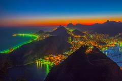 Rio by night (Benoit photography) Tags: 2016 beautiful city urban photographer photography photograph images pictures photos fotos bild street lightroom canon photoshop 600d rio by night sugarloaf corcovado christ copacabana ipanema
