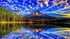 Nature (raiditem) Tags: nature beautifulplace amazingbeau mountain tree green blue lake cloud