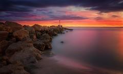 To the light (Anto Camacho) Tags: valencia bigstopper longexposure rocks seascape landscape waterscape sunshine morning colours lighthouse elperell perello mediterranean sea beach