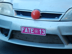 Tempting Fate (mikecogh) Tags: adelaide cbd numberplate 13 unlucky fate tempting rednose