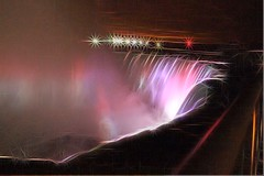 Niagra Falls Canada (CCphotoworks) Tags: sparkling stars processing beauty nighttime colouredlights colours water wondersoftheworld naturalwonders falls niagrafallscanada
