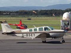G-BSEY Beech Bonanza A36 (Aircaft @ Gloucestershire Airport By James) Tags: gloucestershire airport gbsey beech bonanza a36 egbj james lloyds