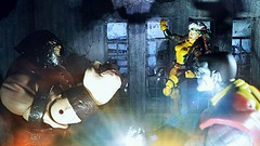 Taking on the Juggernaut (custombase) Tags: marvellegends xmen juggernaut rogue select colossus