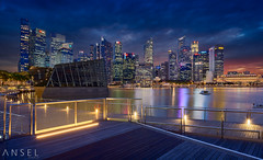 EDGE (draken413o) Tags: singapore cityscapes night sunset marina bay architecture buildings scenes urban places crystal pavilion wow long exposure asia travel destinations amazing canon 17mm tilt shift