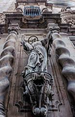 External Stonework - Parroquia de la Mare de Deu de Betlem Church - Barcelona (Panasonic Lumix LX100 Compact) (1 of 1) (markdbaynham) Tags: barcelona city urban metropolis spain spainish espana espanol catalan panasonic lumix dmc dmclx100 lx100 compact 2475mm f1728 zoom lumixer stonework carving parroquia de la mare deu betlem church gothic quarter barri gotic