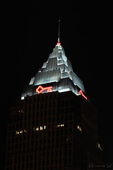 Key Center's Pyramid Roof (Canadian Pacific) Tags: city roof ohio urban usa building tower architecture modern night america us photo office midwest key downtown shot unitedstates pyramid top cleveland unitedstatesofamerica illumination bank illuminated american banking keytower keycenter bankology aimg7525
