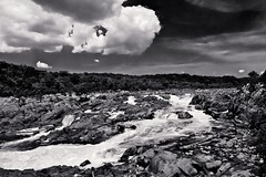 Potomac River At Great Falls, MD. (Baab1) Tags: clouds potomacriver greatfallsmaryland marylandstateparks