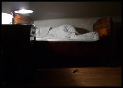 RESTLESS NIGHT (LitterART) Tags: weird bed bett poetry surreal eerie banana creepy spooky nightmare banane poesie alptraum
