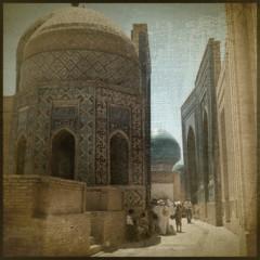 60 (gmouret92) Tags: road de la cemetary silk route dome uzbekistan soie coupole samarqand necropole mausolee ousbekistan samarcande shahizindah
