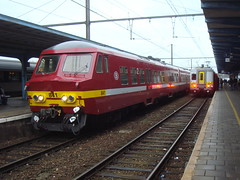 NMBS 841 (LauAM80) Tags: station train gare mons nmbs automotrice ms75 sncb am75