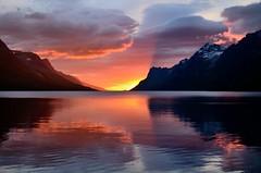 yesterday`s sunset (John A.Hemmingsen) Tags: sunset sky sun seascape reflection nature night landscape bravo cloudy nordnorge tromsø troms colorphotoaward ersfjordbotn nikkor1685dx nikond7000