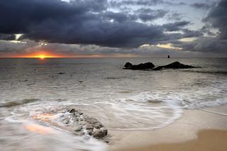 Lever de soleil sur la plage de la Grande Conche ~ Île d'Yeu [ Vendée ~ France ]