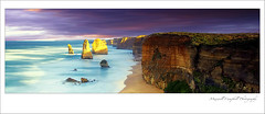 The Fallen (Maxwell Campbell) Tags: longexposure sunset panorama seascape storm clouds sunrise canon landscape nationalpark rocks australia victoria panoramic 12apostles twelve apostles portcampbell