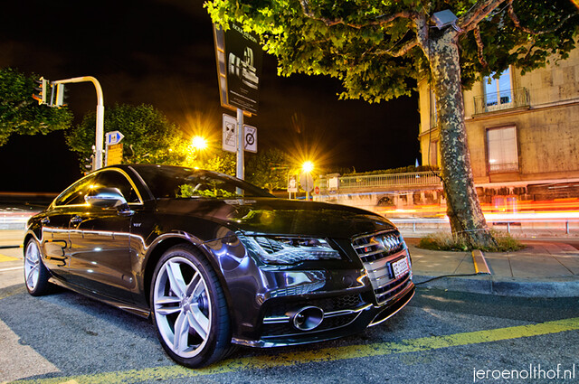 night photography hotel photo jeroen photographer shot geneva geneve president automotive quay wilson audi s7 genf olthof wwwjeroenolthofnl jeroenolthofnl