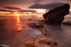 Let The Sun Shine (Dave Brightwell) Tags: sea sky sun seascape clouds sunrise canon rocks redsnapper easington fttv bwnd hitech09ndgrad davebrightwell