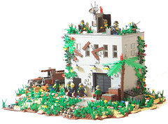 Jungle Warehouse (Silenced_pp7) Tags: friends house truck landscape lego fig garage apocalypse mini warehouse jungle custom ware minifigure apoc moc brickarms brickforge