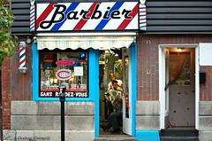 Barbier (Glorious Vintage aka MontrealGLORI) Tags: nikon montreal hochelagamaisonneuve urbanscene montrealstreets nikond40only montrealbarbershop
