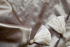 Satin Silk and Tassels (arfabita) Tags: light portrait white black color colour texture nature monochrome lines vertical horizontal table landscape design interesting intense different geometry vibrant background interior empty patterns small touch smooth arc shapes silk angles vivid jewelry monotone any velvet negative ornament single mauve backdrop runners geometrical unusual areas items conceptual runner household orientation brilliant radiant feature spaces silky forme tassel twirls twirly margins decoratons