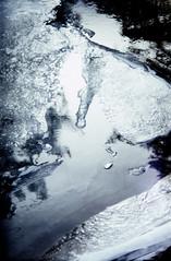 . (Mats Andreas Nielsen) Tags: snow colour reflection film ice norway creek 35mm 50mm slide jena velvia 50 fujichrome dias exa f28 teleconverter 1a 2x ihagee